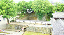 "Kumamoto castle exterior walls and interior walls shikkui ""Shirokabe"" lime plaster finish coat"